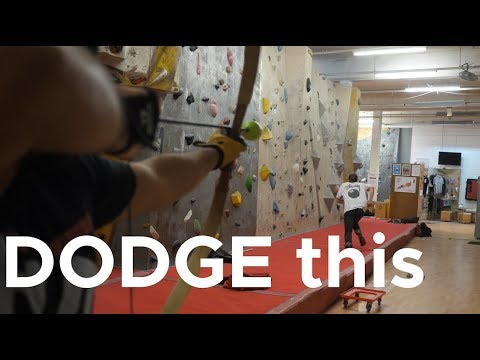 Can climbers dodge arrows?