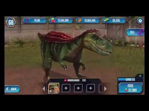 NEW Dinosaurs GORGOSAURUS Max Level Feeding - Jurassic World The Game