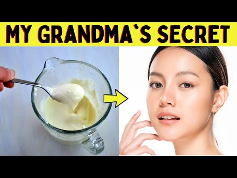 My Grandma's SECRET | Homemade Face Moisturizer with All Natural Ingredients for All Skin Types 😍