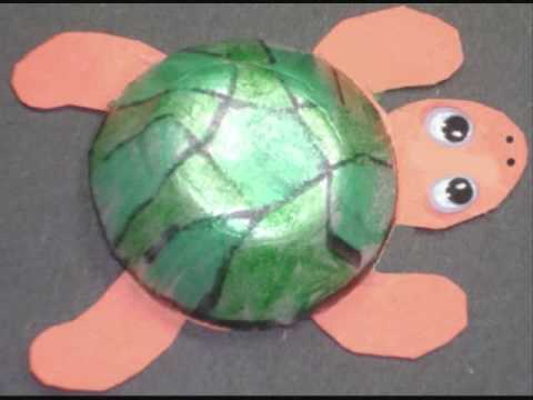 How to make a cute turtle with recycled egg carton - EP - simplekidscrafts