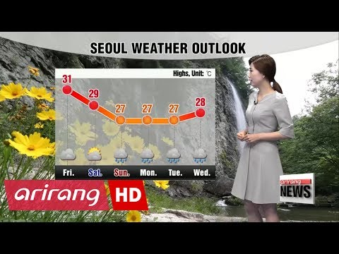 Monsoon rain on Jeju Island and southern coastal regions