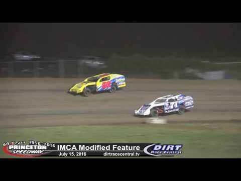 Princeton Speedway 7/15/16 IMCA Modified feature highlights