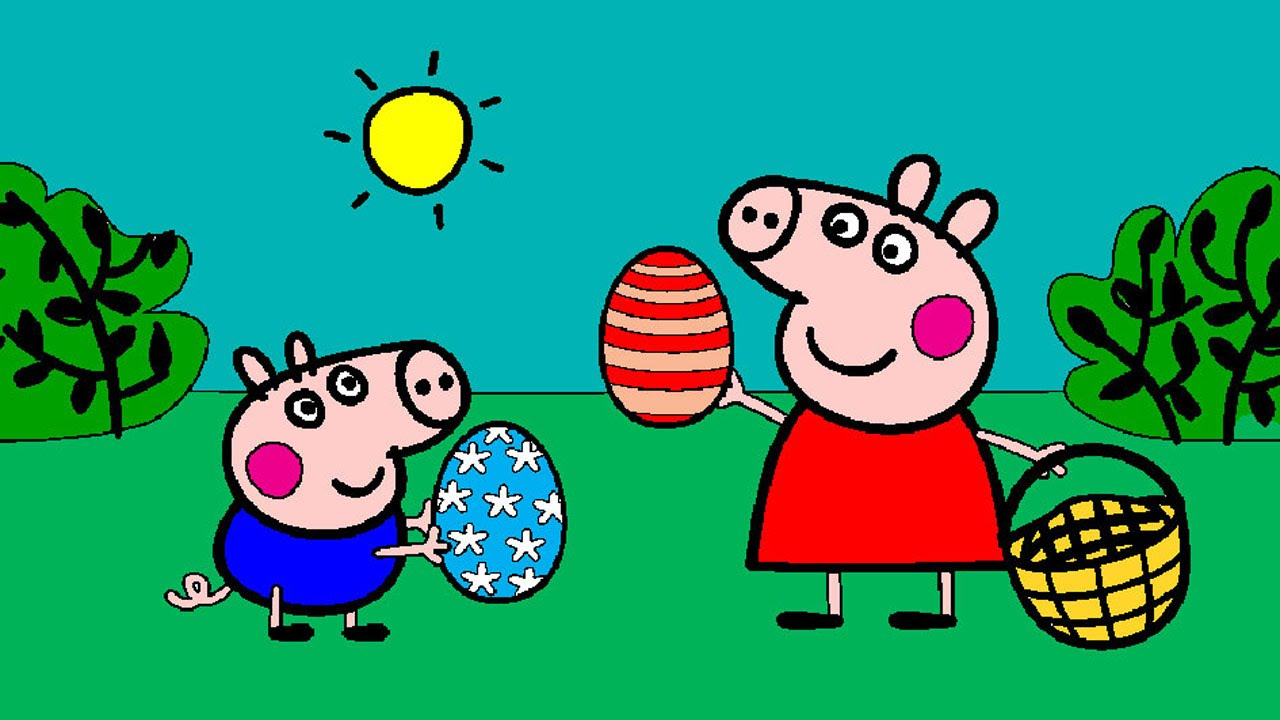 peppa pig coloring pages for kids peppa pig coloring games