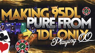 """MAKING 95DL PURE FROM 1DL ONLY! """"In 10 Minutes!?"""" IMPOSSIBLE CB IN GROWTOPIA HISTORY!"""