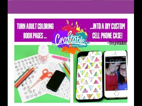 turn coloring pages into a diy custom phone case youtube youtube