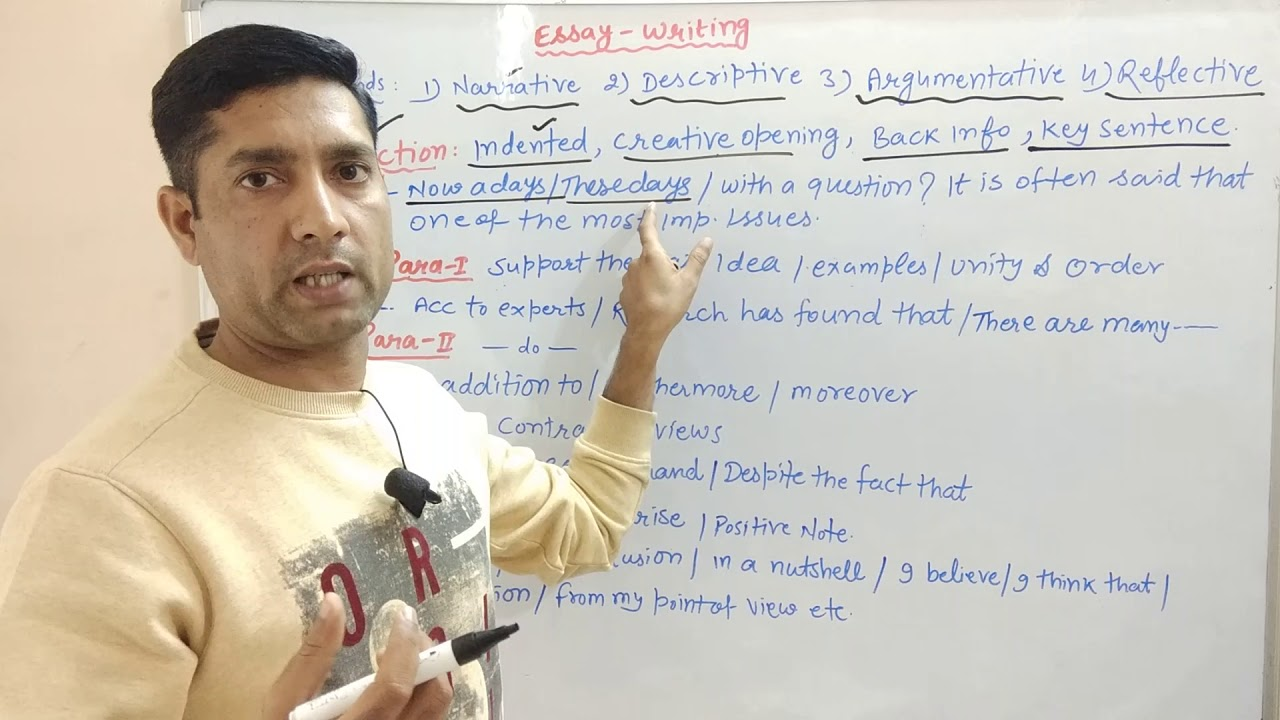 ESSAY WRITING  How to Write a Paragraph?  essay writing in english  Essay Writing Format