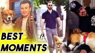 Chris Evans Being Adorable With His Dog Dodger for 5 Minutes Straight | Funny Moments