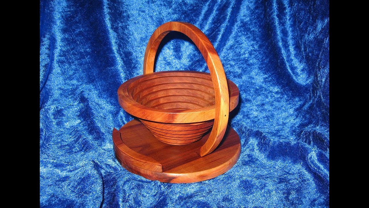 How To Make A Collapsible Wooden Basket Bowl With A Scroll Saw Woodworking