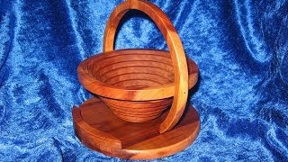 Collapsible Basket / Bowl With A Scroll Saw - Woodworking