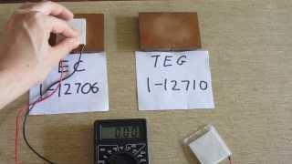 Thermoelectric Cooler / Generator TEC1-12706 vs TEG1-12710 Peltier thumbnail
