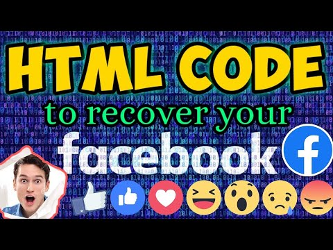 HTML CODE FOR FACEBOOK LOG IN | HTML CODE TO RECOVER YOUR FACEBOOK