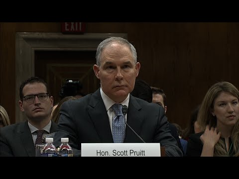 Senators Grill EPA's Pruitt Over Ethics Scandals