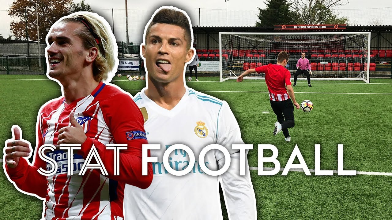 Griezmann Is A Better Finisher Than Cristiano Ronaldo?! | Shooting Challenge | Stat Football ⚽