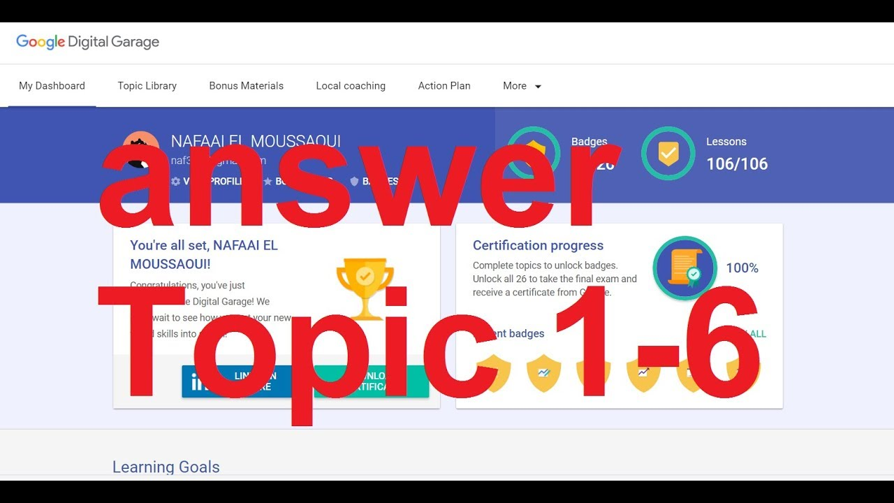 Google Digital unlocked All answer topic 1-6 part 1