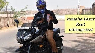 Yamaha Fazer REAL MILEAGE TEST YouTube Videos