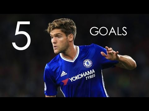 Marcos Alonso - First 5 Goals For Chelsea FC - HD
