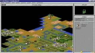 Civilization 2 gameplay (PC Game, 1996)