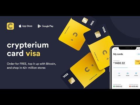 Crypterium Регистрация и получение виртуальной карты бесплатно