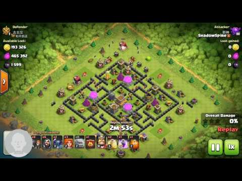 Clash of clan:Golem bounce off by spring trap
