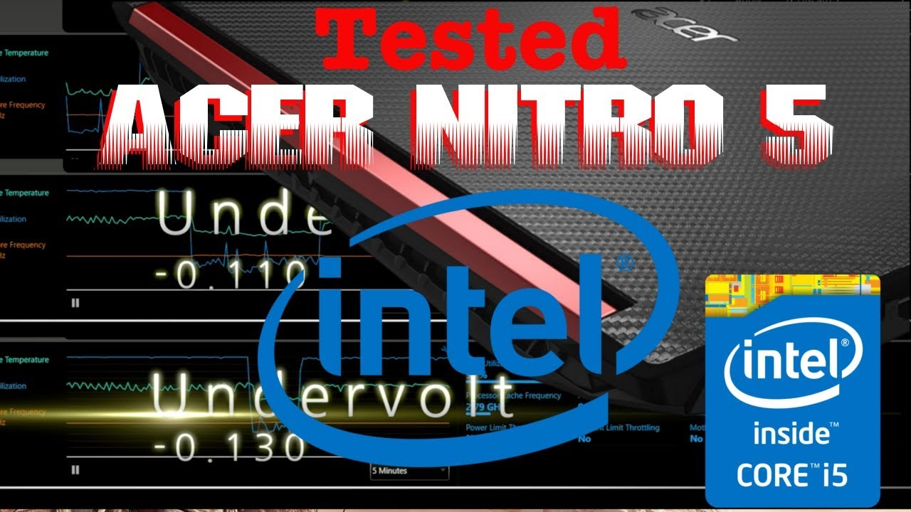 Undervolt CPU Test On Acer Nitro 5 w/GTX 1050 Ti, Temp Decrease!