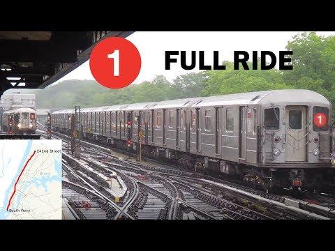 NYC Subway: FULL RIDE! R62A 1 Train to 242 St-Van Cortlandt Park