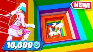 10,000 VBUCKS IF HE WINS! Fortnite Rainbow Dropper!