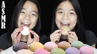 ASMR MOCHI ICE CREAM (Eating Sounds - No Talking)   Tran Twins