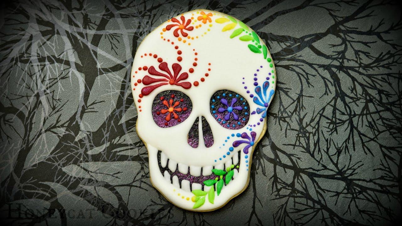 Brand-new Creepy Sugar Skull Cookies - YouTube KY05