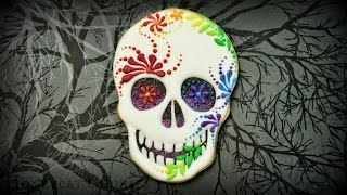 Creepy Sugar Skull Cookies