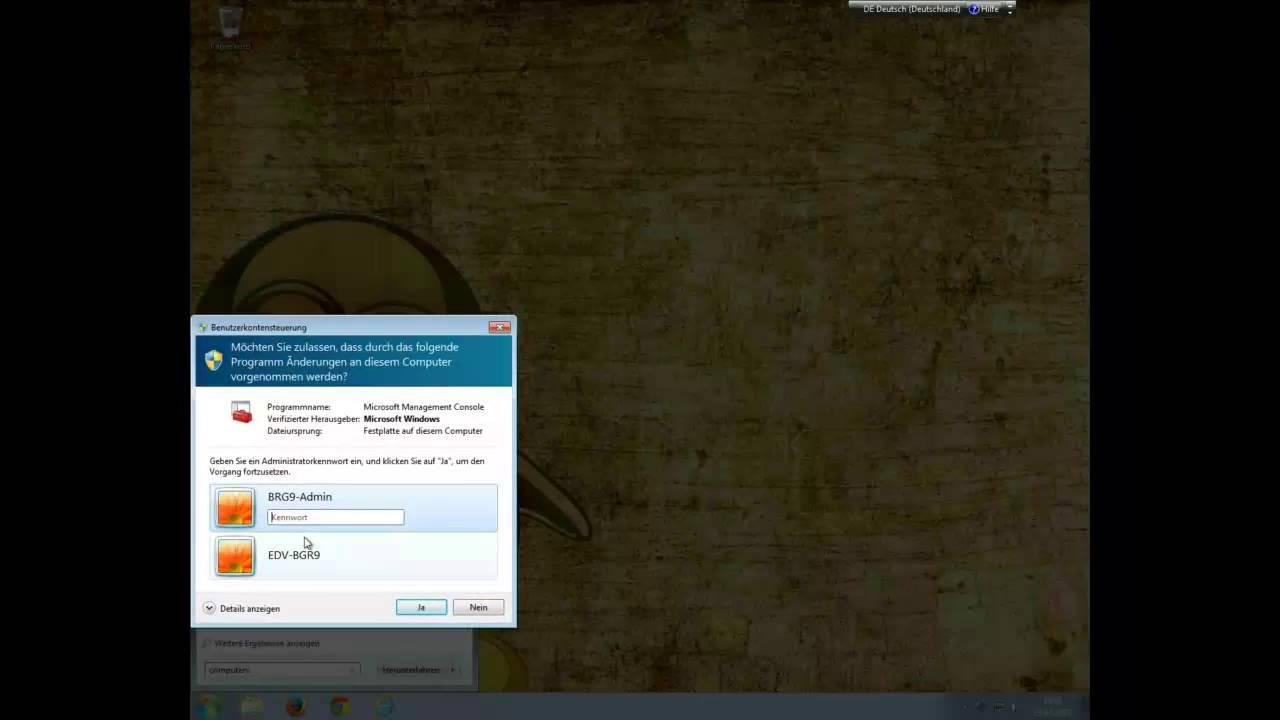 Windows 7 per PXE-Boot von Clonezilla aus geclonet