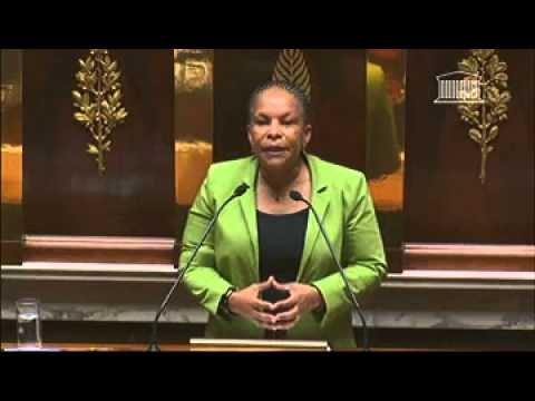 29 janvier 2013 : Intervention de Christiane Taubira sur le