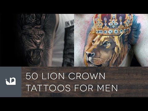 50 Lion With Crown Tattoos For Men