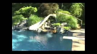 Deck And Patio Company Testamonial Gunite Pool Pond Patio Waterfall Landscape
