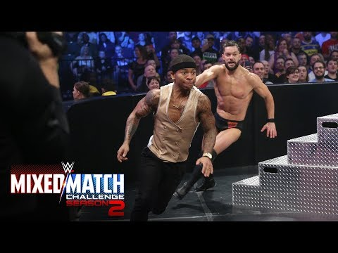 Lio Rush gets chased by Finn Bálor before suffering Bayley-to-Belly