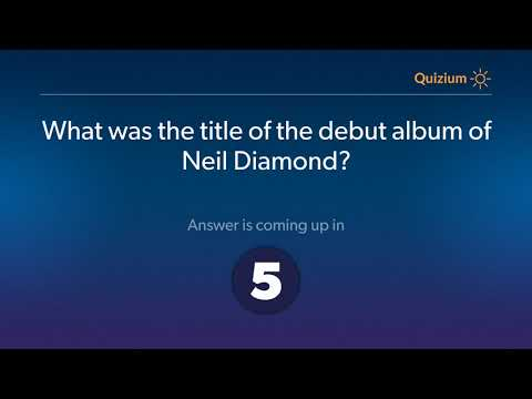 What was the title of the debut album of Neil Diamond?   Neil Diamond Quiz