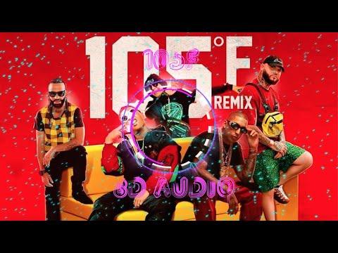 Kevvo -105F Remix (8D AUDIO)Ft Farruko, Myke Towers, Arcangel, Darell, Ñengo F, Brytiago, C Corleone