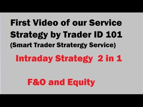 Intraday equity trading strategies