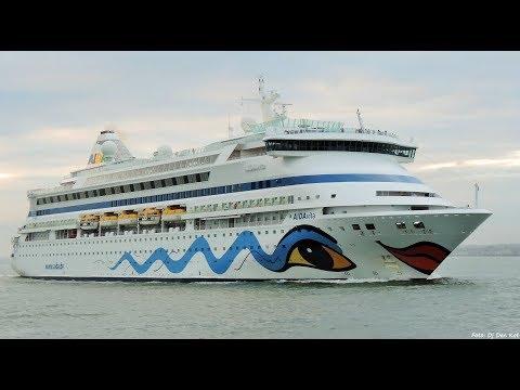 AIDAvita leaving Dublin Port