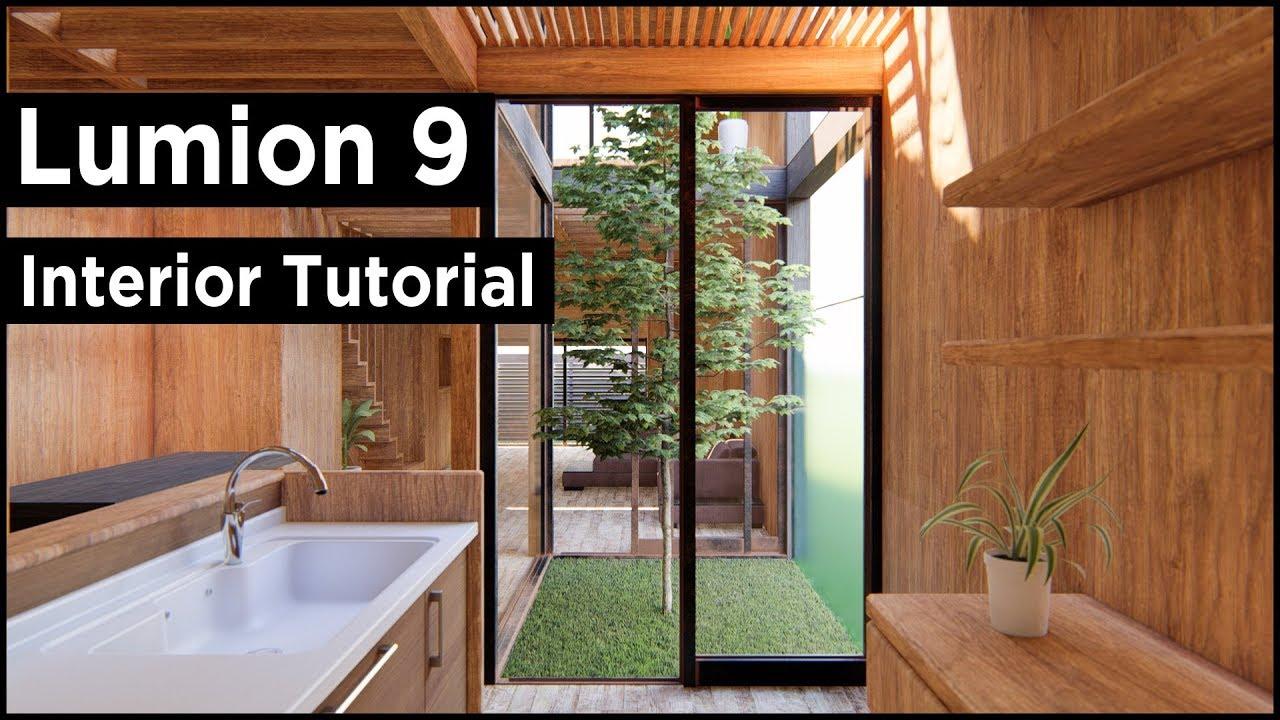 Lumion 9 Pro Modern Interior Design Rendering (Best Tutorial)