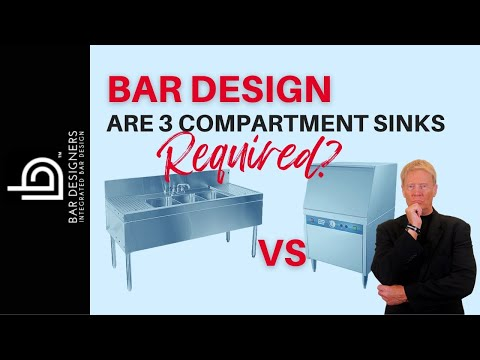 3 Compartment Sink Vs Glass Washers For Bar Design