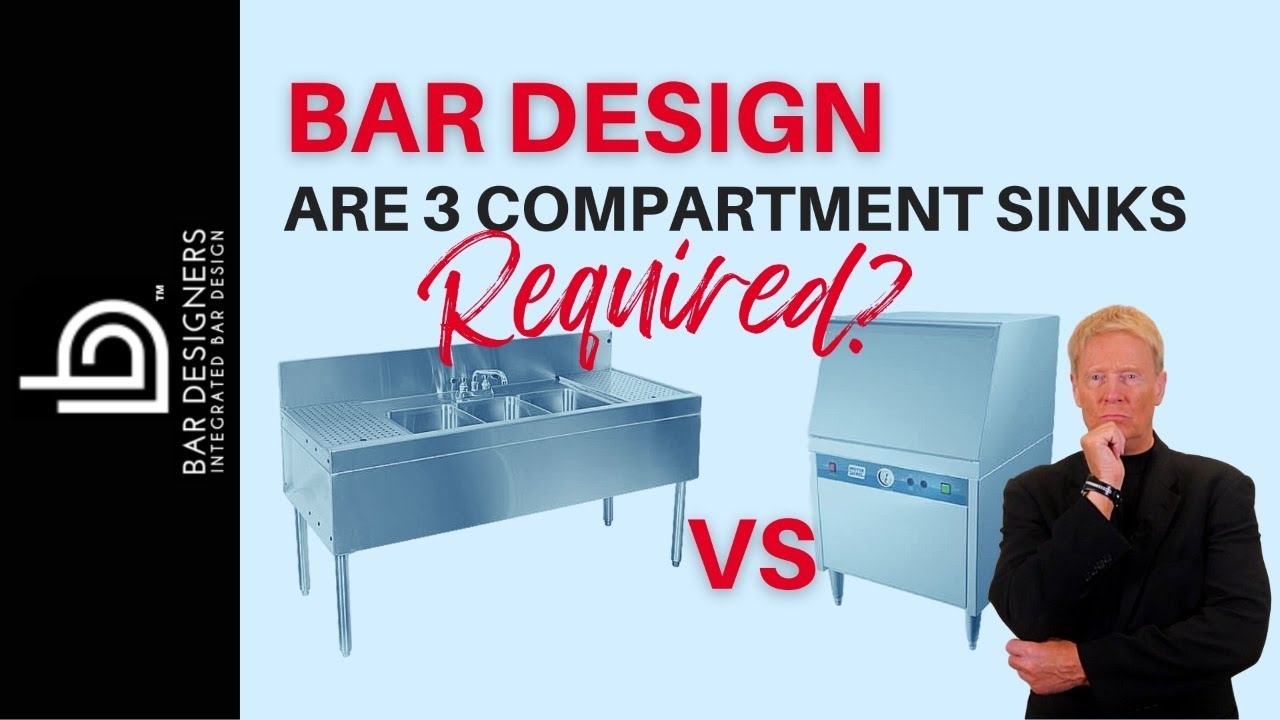 Bar Design Ideas - How to Design a Commercial Bar for 3-Bin Sinks ...
