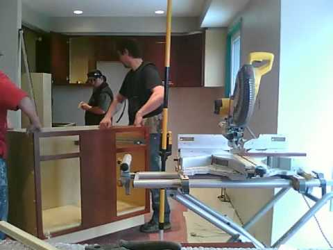 How to Install kitchen Cabinets - YouTube