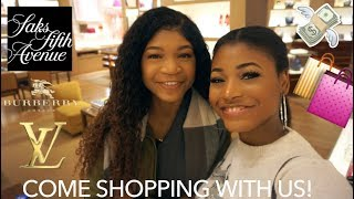 COME SHOPPING WITH US IN SAKS FIFTH AVENUE | Beauty With Vee ♡