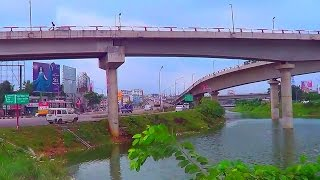 Beautiful Kuril Flyover Bridge, Dhaka, Bangladesh