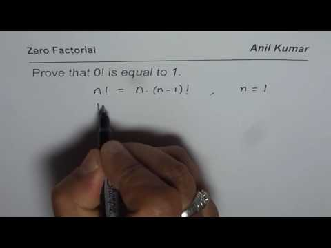 Prove that Zero Factorial is Equal to One