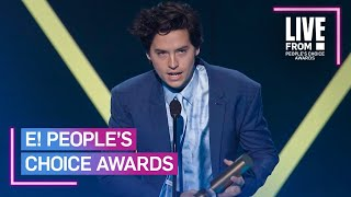 Cole Sprouse Has Wise Words for DiCaprio and Pitt After PCAs Win | E! People's Choice Awards