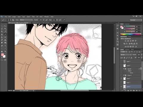 [SpeedPaint] DameKoi Manga Coloring