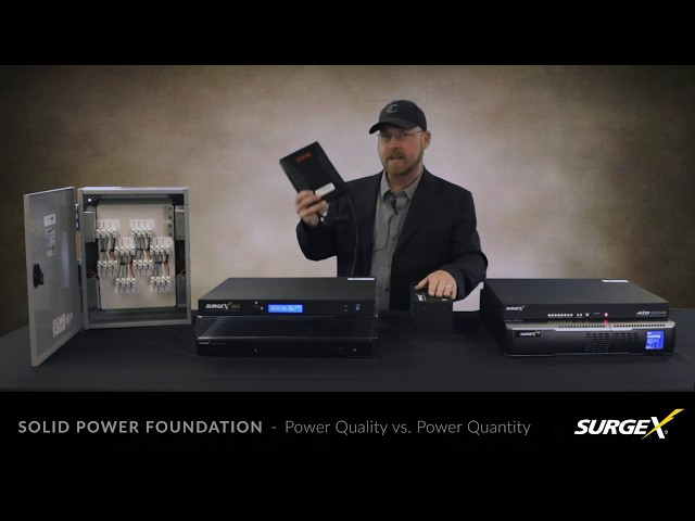 SurgeX Solid Power Protection Foundation
