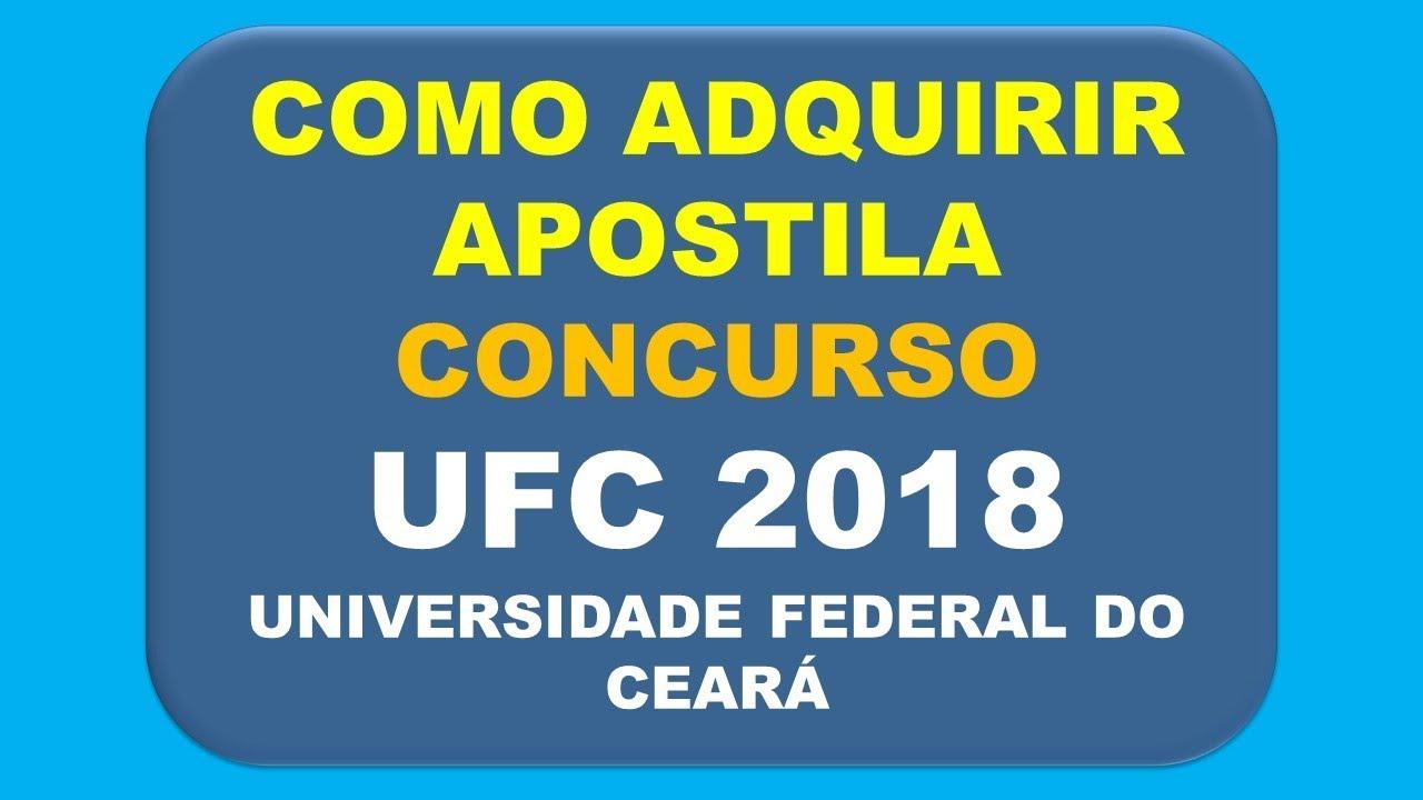 UFC BAIXAR AUXILIAR ADMINISTRATIVO APOSTILA