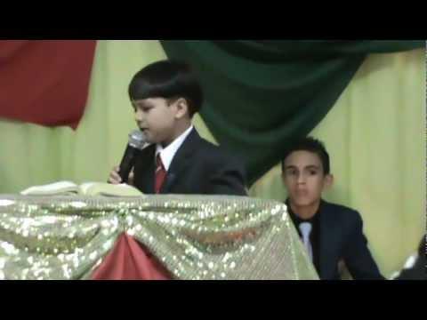 Pregador Mirim Athos Daniel 9 Anos(SANTIDADE QUESTÃO DE HONRA) LUZIÂNIA-GO